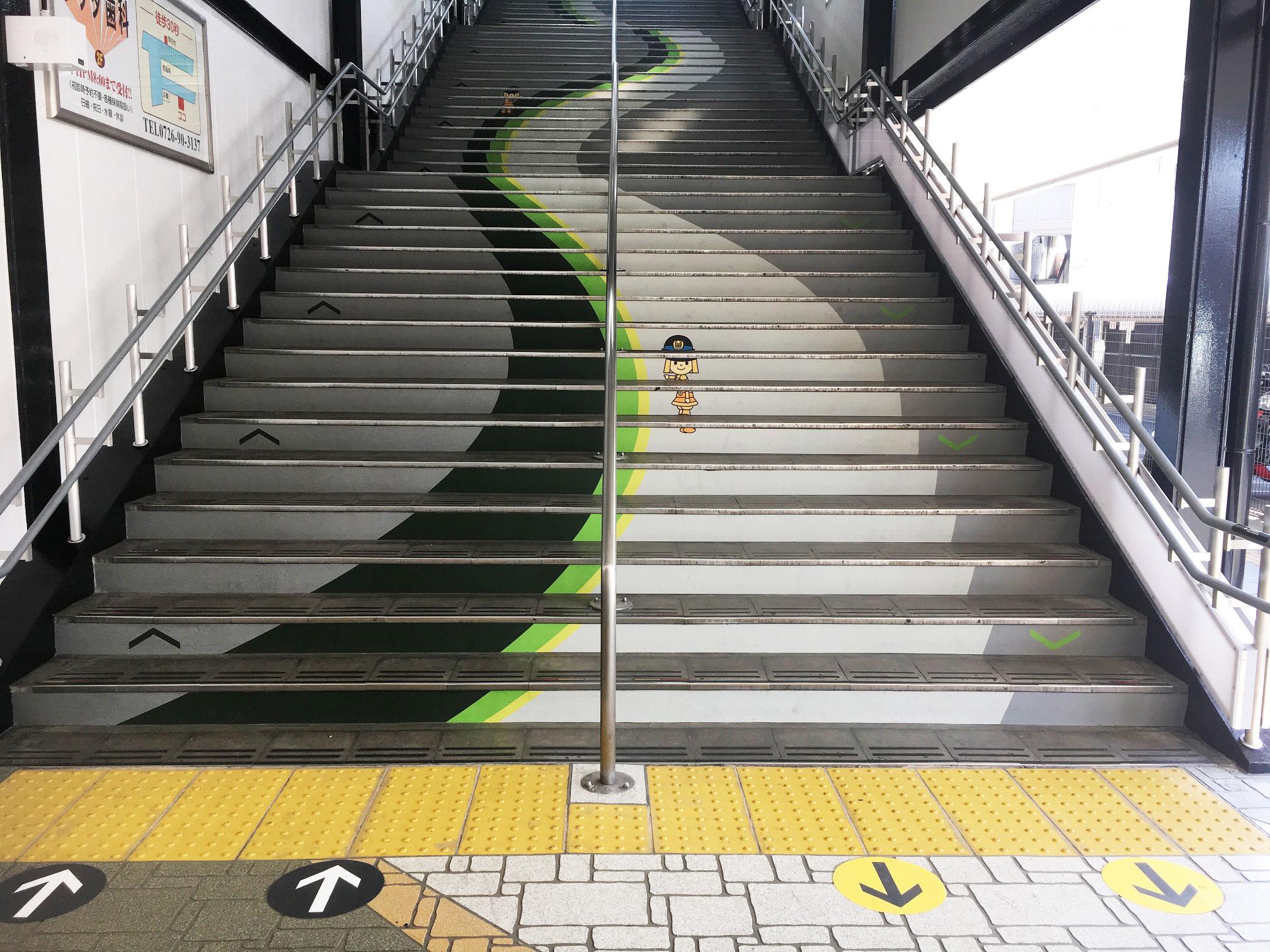 階段蹴上デザインシート工事